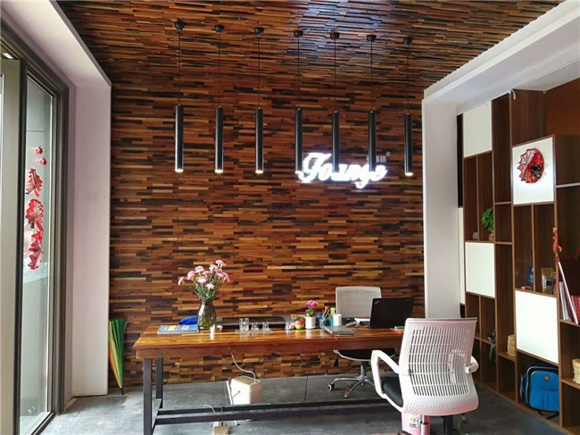 Parquet Feature Interior Wood Grain Wall Paneling Mosaic Pattern