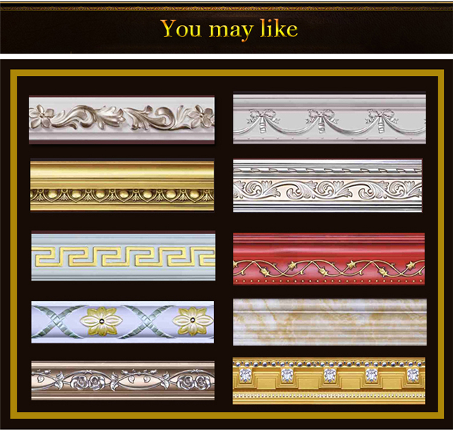 Decorative Polyurethane Crown Molding / Carved Panel Moulding For Wall / Ceiling