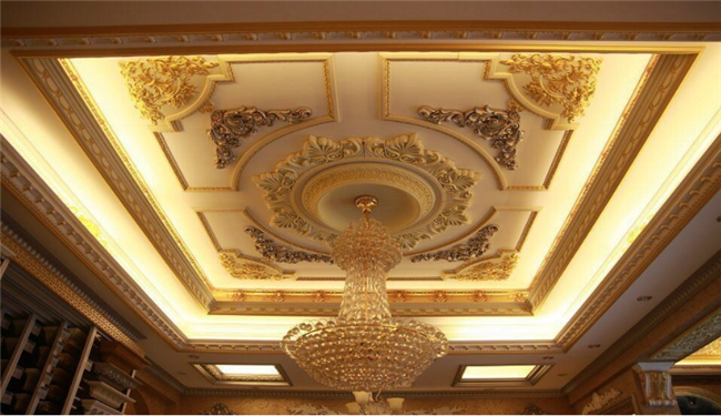 Upscale Visual Polyurethane Architectural Onlays Furniture Appliques Hollow Design