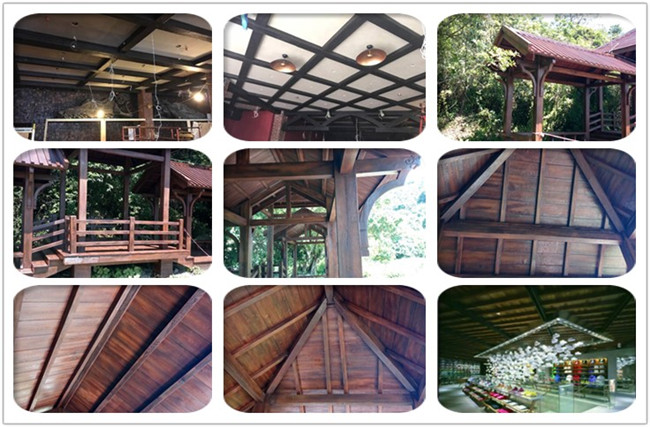 High Density Polyurethane Faux Wood Beams , Decorative Pu Imitation Wooded Roof Beams