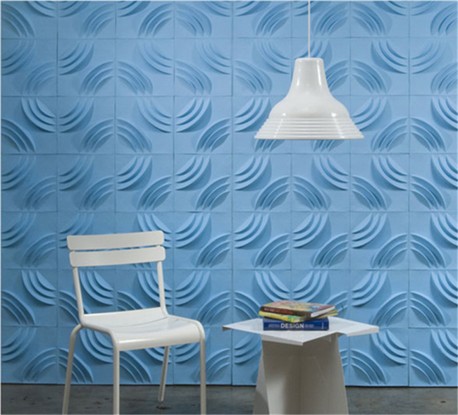 White Painted 3D PVC Wall Panels / Vinyl 3d Siding Wall Board For Office / Hotel