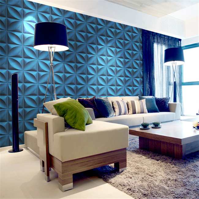 Laser Design 3D Wall Cladding Panels / Background Board Customized Shape