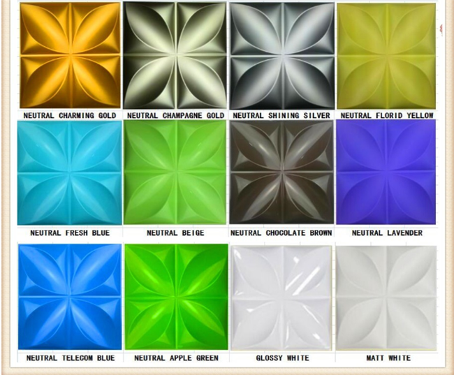 Paintable 3D Wall Panel Tiles , Plastic 3 Dimensional Decorative Interior Wall Cladding