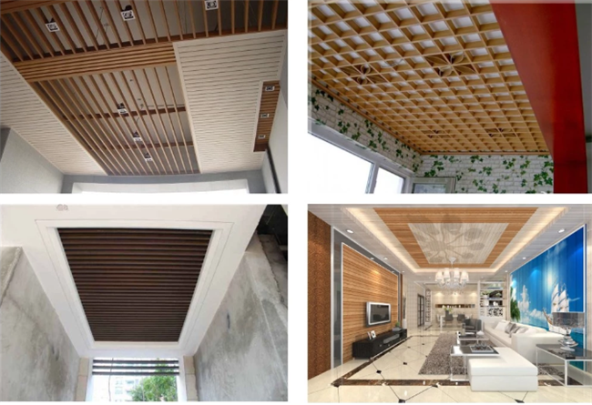 Recycle WPC Ceiling tiles , Wood Plastic PVC False Ceiling Tiles Eco Friendly