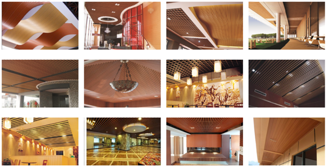 High Strength 	PVC Ceiling Panels , Light Weight Wood Plastic Composite Ceiling