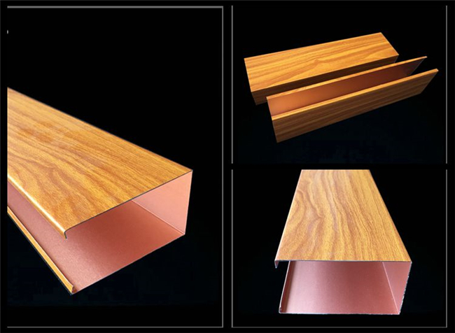 Faux Wood Indoor Suspended Ceiling Panels PVC Laminated 40*25mm