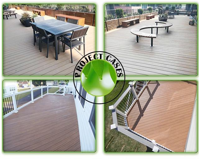 Recycled Material Wood Plastic Composite Exterior Wall Cladding Flooring Decking