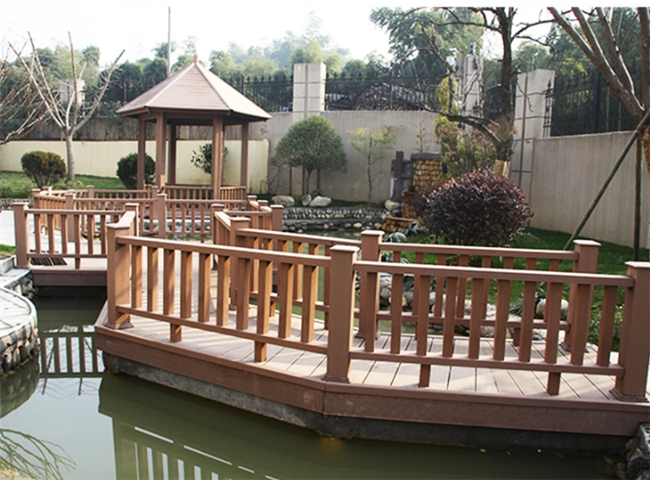 Outdoor Wood Plastic Composite Railing 60*40mm WPC Post For Railings