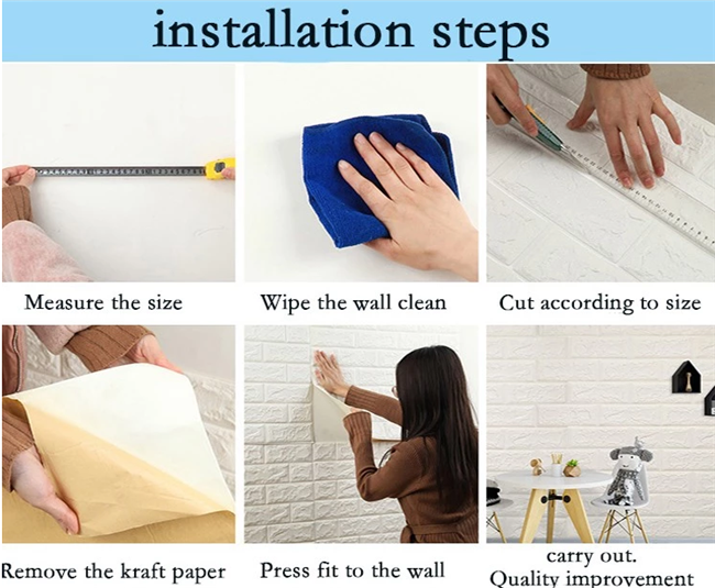 Easy To Install Self Adhesive Wall Panels With Wood Color Design