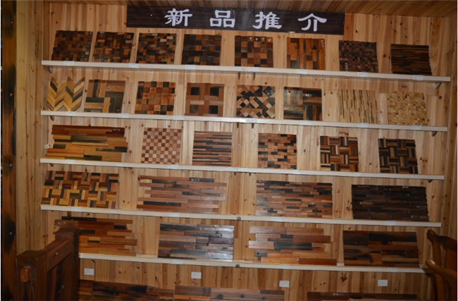 Interior Wood Grain Wall Paneling Old Ship Wood Mosaic With Culture Stone Design