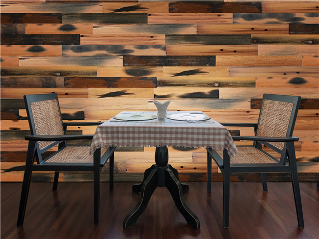 Decorative 3d Solid Wood Wall Paneling , Artificial Carved Wood Wall Panel