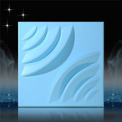 White Painted 3D PVC Wall Panels / Vinyl 3d Siding Wall Board For