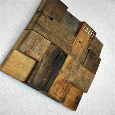 Square Wood Mosaic Wall Panels , Reclaimed Wood Wall Panels For Home Decoration