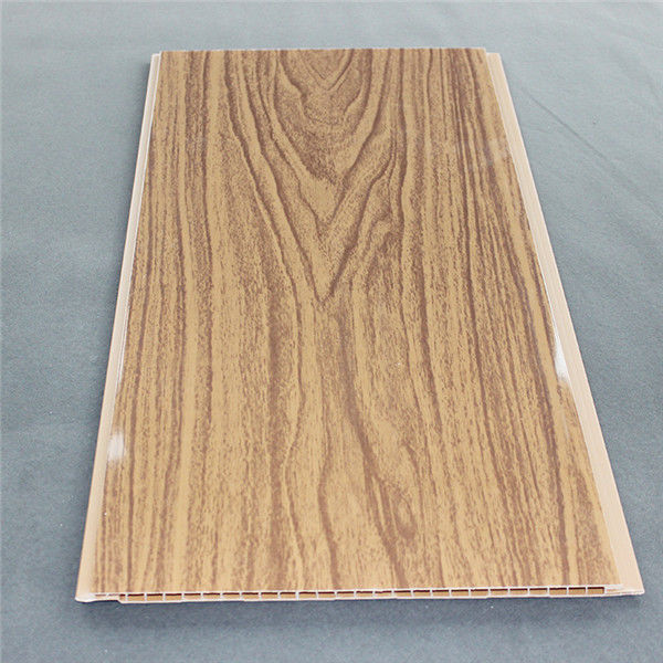 300mm WPC Wall Panel , Fireproof Pvc Wall Panels / Ceiling With Wood Material