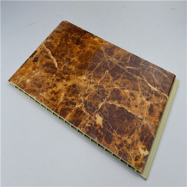 Marble Designs WPC Wall Panel Wood / Vinyl Material For House / Hotel Wall Decoration