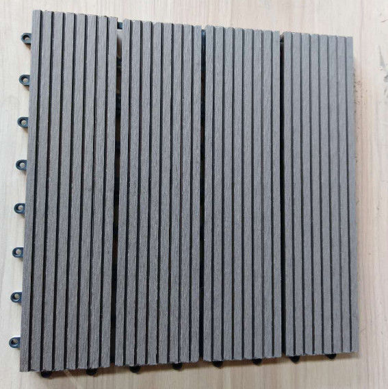 Anti Ultraviolet Wood Plastic Composite Flooring , Durable Co Extrusion PE Floor For Exterior