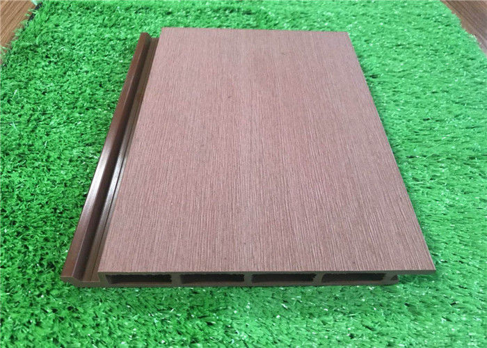Plastic External Wood Cladding Panels / Vinyl Exterior Wall Cladding Eco Friendly